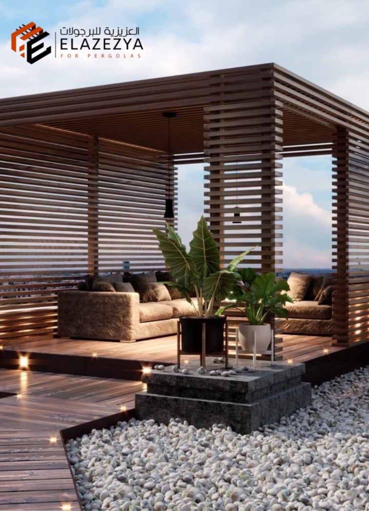 بالصور طرق تركيب برجولات خشبية للحدائق في مصر 01027702770