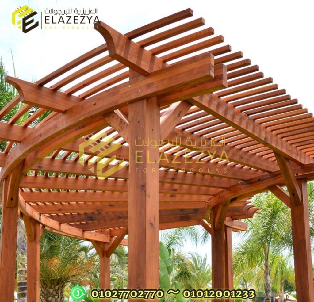 بالصور 10 اشكال برجولات خشبية تزين حديقة منزلك في مصر
