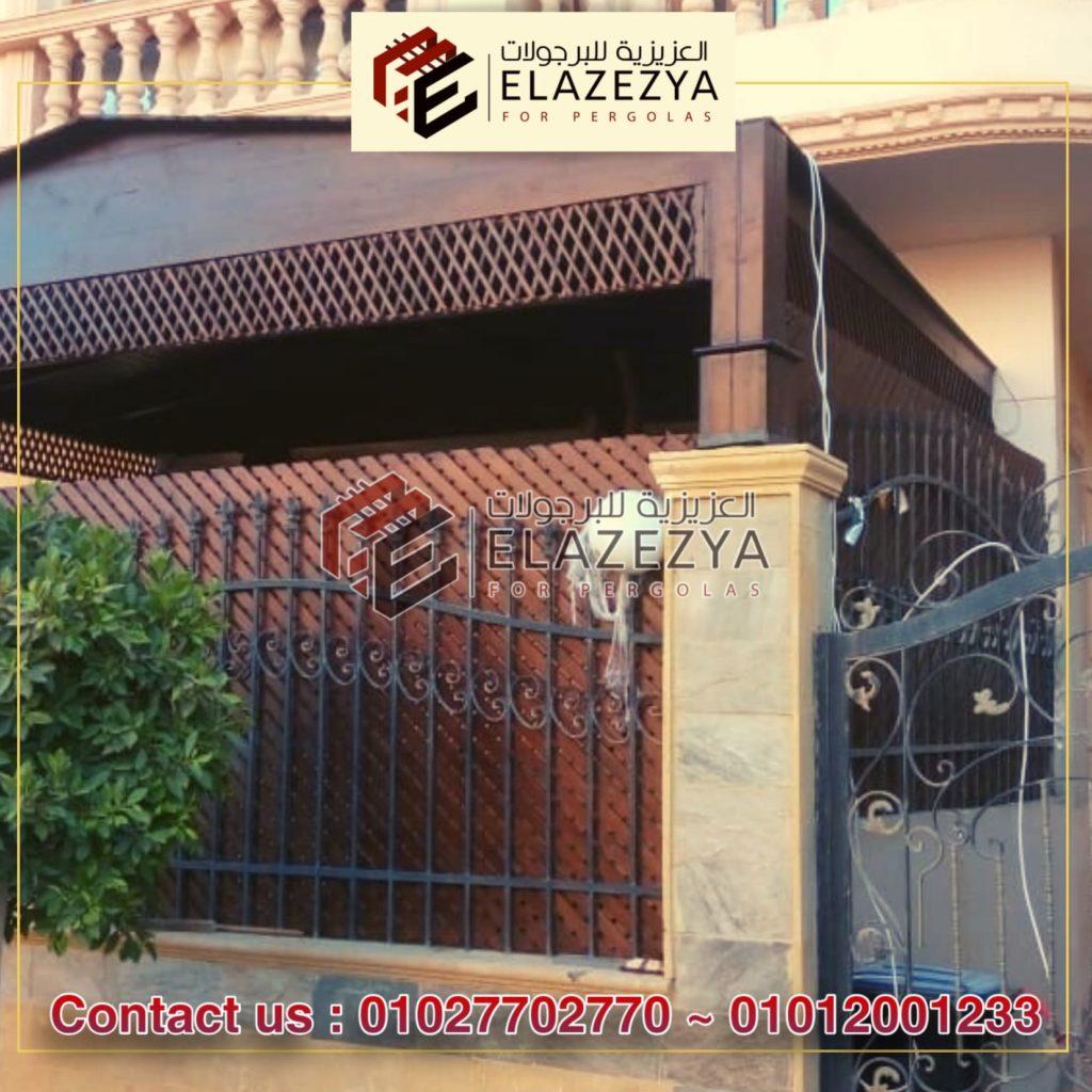 برجولات مداخل بيوت خشبية بتصميمات جديدة 2020 في مصر