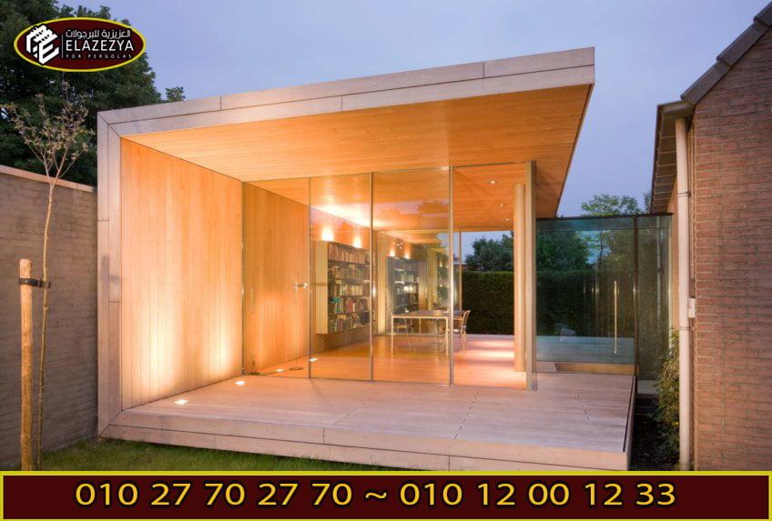 غرف زجاجية شركة العزيزية للبرجولات
