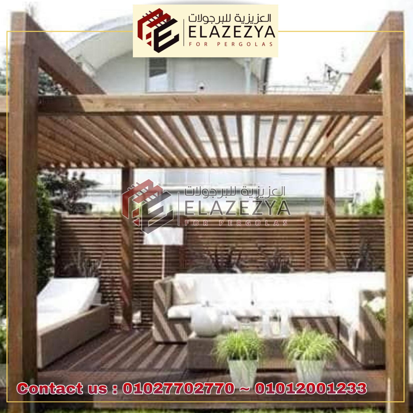 تنفيذ برجولات خشب للحدائق والأسطح 2021