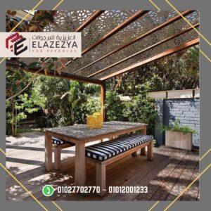 اسعار برجوله خشبيه للبيع مع افضل شركة برجولات بمصر