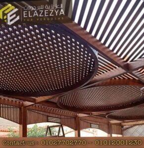 تصميم برجولات خشبية بالاضاءة وأفكار جديدة لمنزلك
