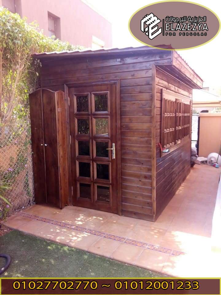 تصميم غرف خشب لحارس منزلك بالحديقة بسعر رخيص