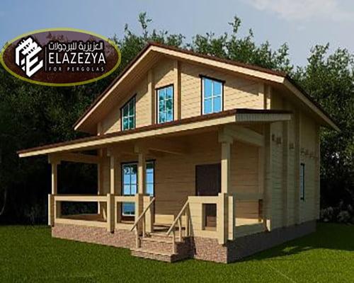 شركة تنفيذ بيوت خشبية | بناء بيت خشبي مميز