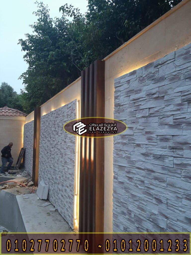 ديكور خشب جداري خارجي| تجليد حوائط خشب